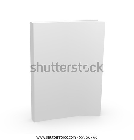 3d softcover book magazine mag cover - stock photo