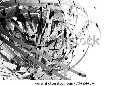 3D space geometry - stock photo