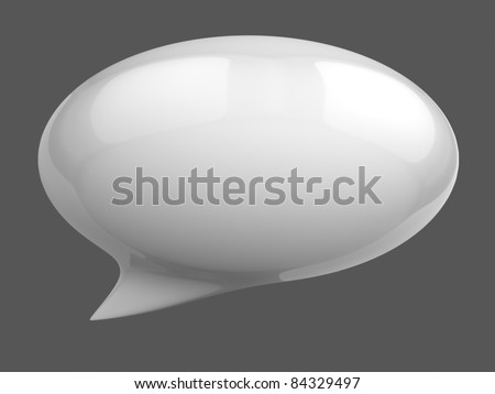 3d speech bubble - stock photo