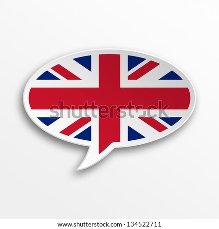 3d speech bubble - England - stock photo
