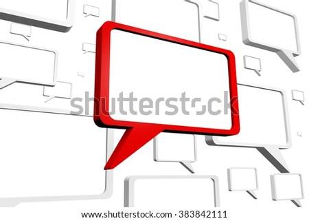 3D speech bubbles - great for topics like communication, conversation, speech, presentation, talking, chat, voice, message etc. - stock photo