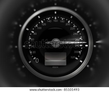 3D Speedometer. rendering ( high resolution ) - stock photo