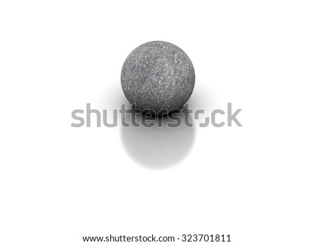 3D sphere on white background