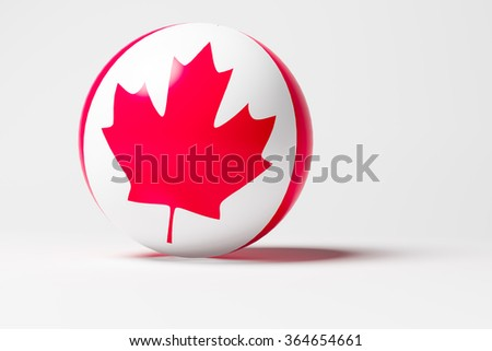 3D sphere with Canada flag - stock photo