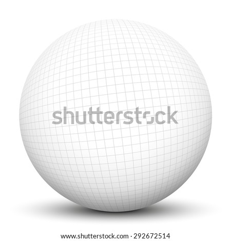 D Sphere Checkered Graph Paper Texture Stock Illustration