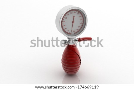 3D sphygmomanometer  - stock photo