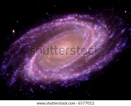 3D Spiral Galaxy - stock photo