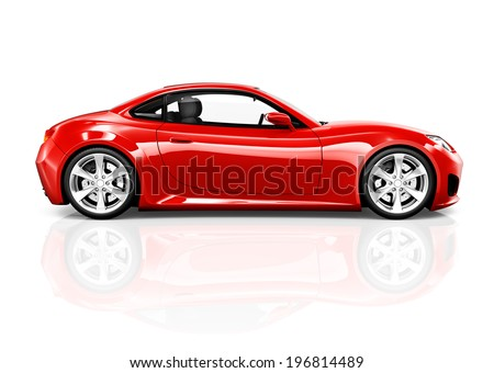 3D Sports Car - stock photo