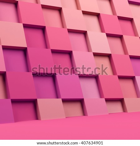 3d square mosaic. 3d rendering background.