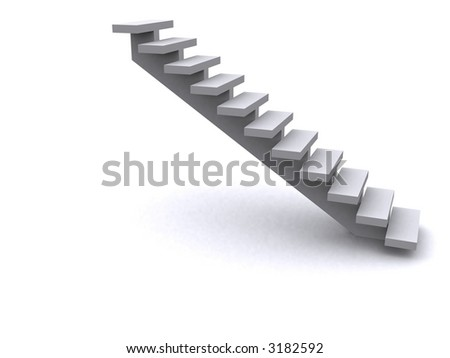 3d stairs - stock photo