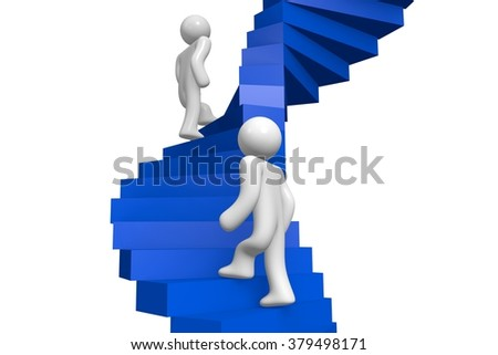 3D stairs concept. - stock photo