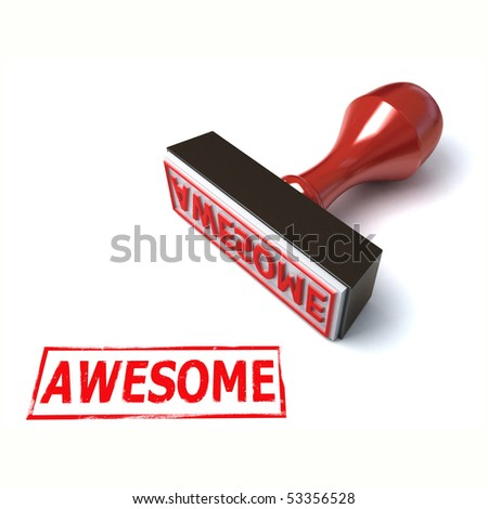 3d stamp awesome