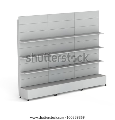 3D stands for advertising on a white background - stock photo