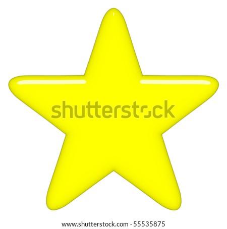 3d star - stock photo