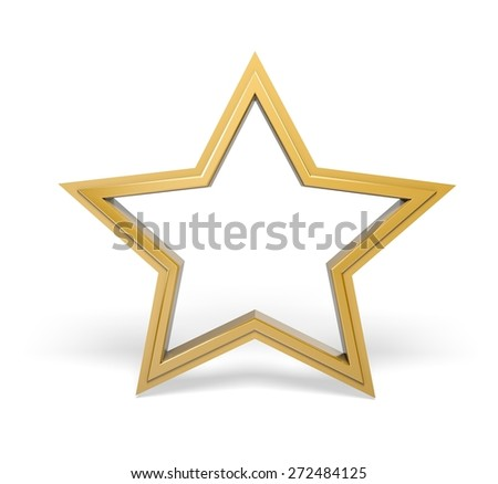3D. Star, Star Shape, Gold.