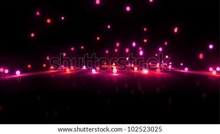 3d still rendering of bouncing light balls background - stock photo
