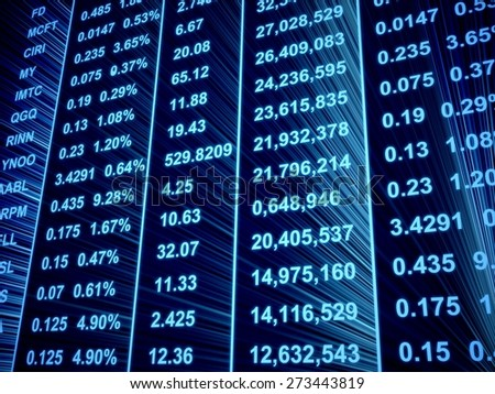 3D. Stock Market, Finance, Trading. - stock photo