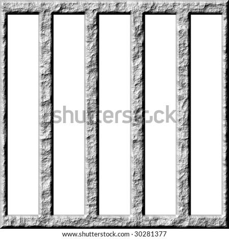 3d stone cage - stock photo