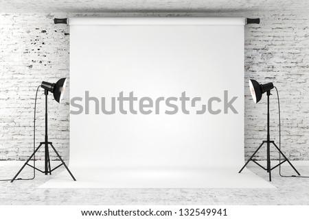 3d studio set - stock photo
