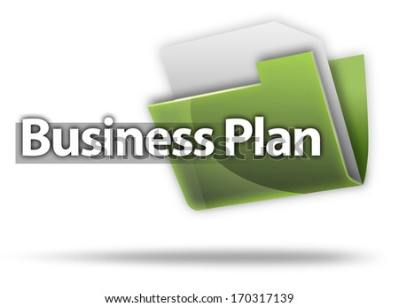 3D Style Folder Icon Business Plan