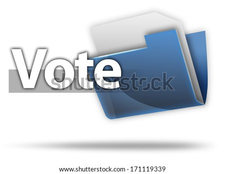 3D Style Folder Icon with Vote related wording