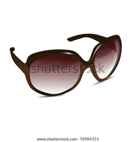 3D Sun Glasses - stock photo