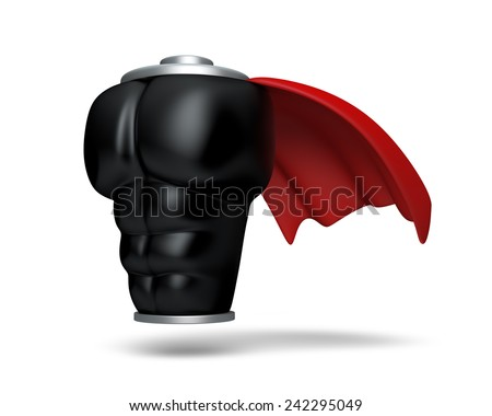 3D Super Power high Battery black suite icon Full Power energy, Concept of successful object isolated - stock photo