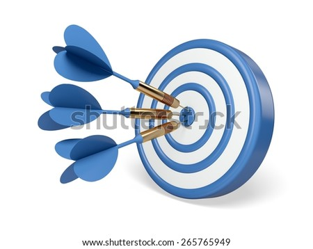 3D. Target, Aspirations, Marketing. - stock photo