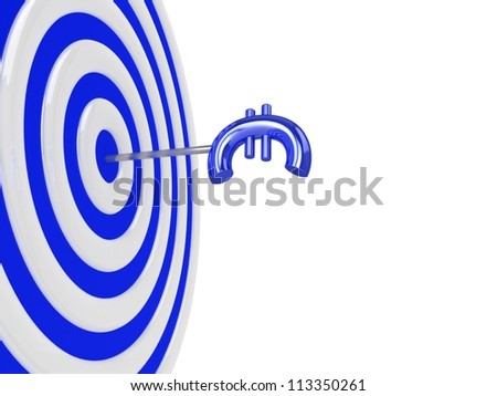 3d target with euro sign.