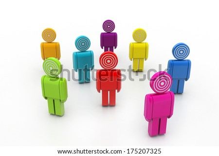 3d targeted people - stock photo