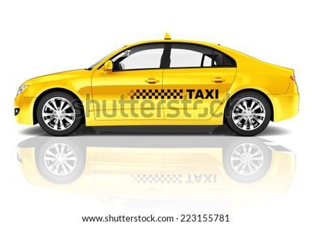 3D Taxi Car - stock photo