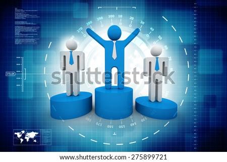 3d Team leader - stock photo