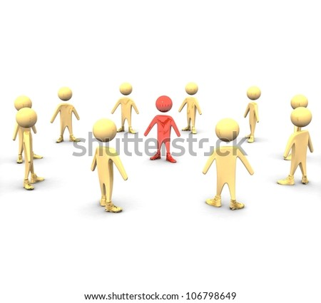 3d Teamwork concept - stock photo