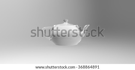 3D teapot modelling rendering, computer generated images