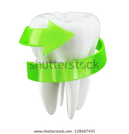 3d Teeth protection concept - stock photo