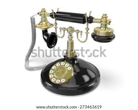 3D. Telephone, Old, Retro Revival. - stock photo
