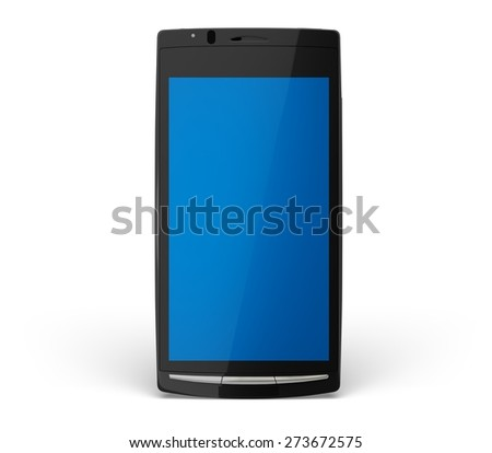 3D. Telephone, Smart Phone, Mobile Phone. - stock photo