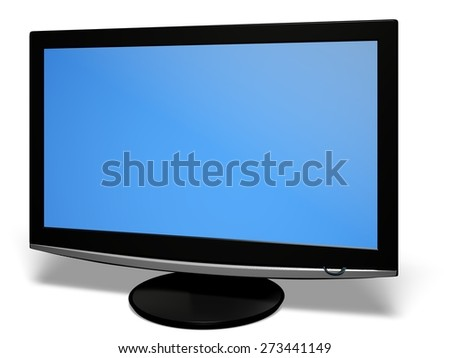 3D. Television, Liquid-Crystal Display, Computer Monitor. - stock photo