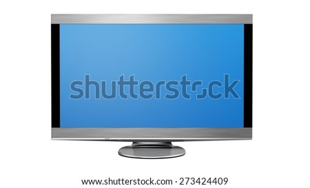 3D. Television, Liquid-Crystal Display, Flat Screen. - stock photo