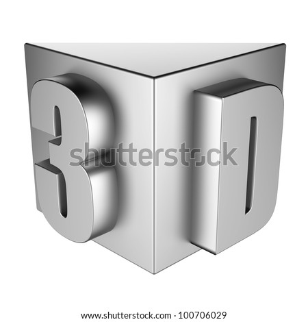 3D text - stock photo