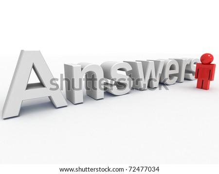 3d text and a man - stock photo