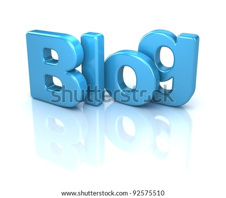 3d text blog, isolated over white background - stock photo