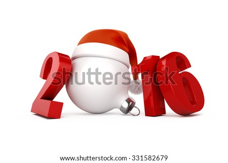 3d 2016 text decoration - stock photo