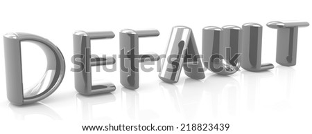 "3d text ""default"" on a white background - stock photo"