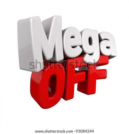 3d text for Sell out in red and white angled obliquely away from camera isolated on white - stock photo