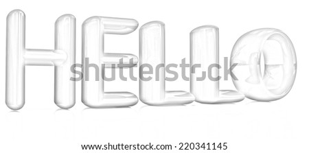 "3d text ""hello"" on a white background. Pencil drawing  - stock photo"