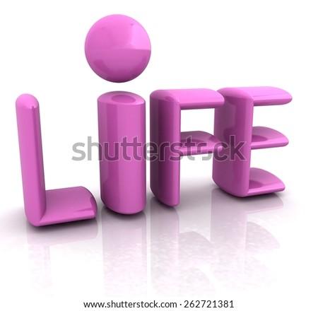 """3d text """"life"""" - stock photo"""