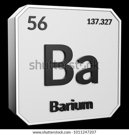 3d Text Chemical Element Barium Atomic Stock Illustration 1011247207