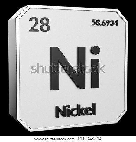 3 D Text Chemical Element Nickel Atomic Stock Illustration