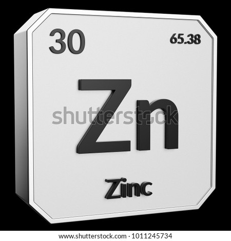 3 D Text Chemical Element Zinc Atomic Stock Illustration 1011245734